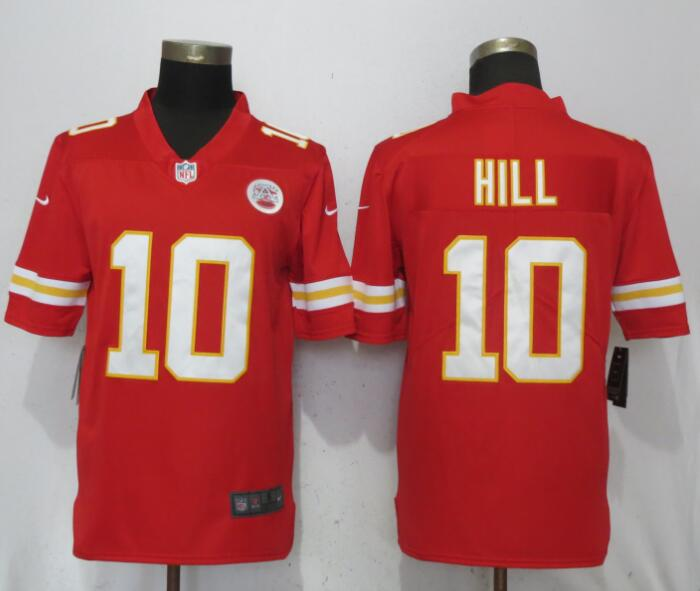 Men Kansas City Chiefs 10 Hill Red Vapor Untouchable Player Nike Limited NFL Jerseys