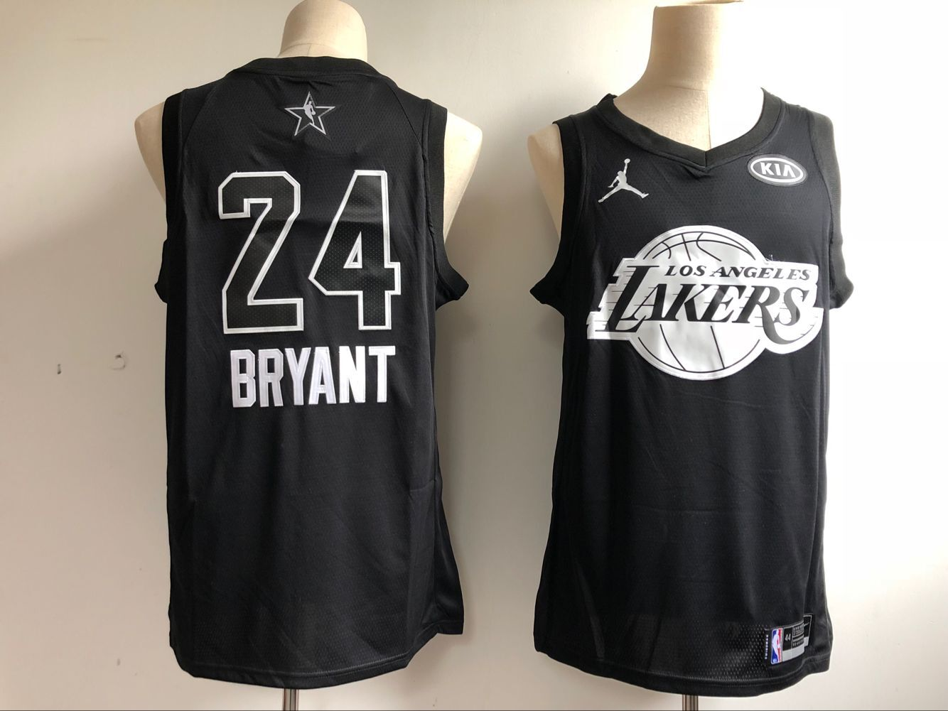 Men Los Angeles Lakers 24 Bryant Black NBA 2018 All Star jersey