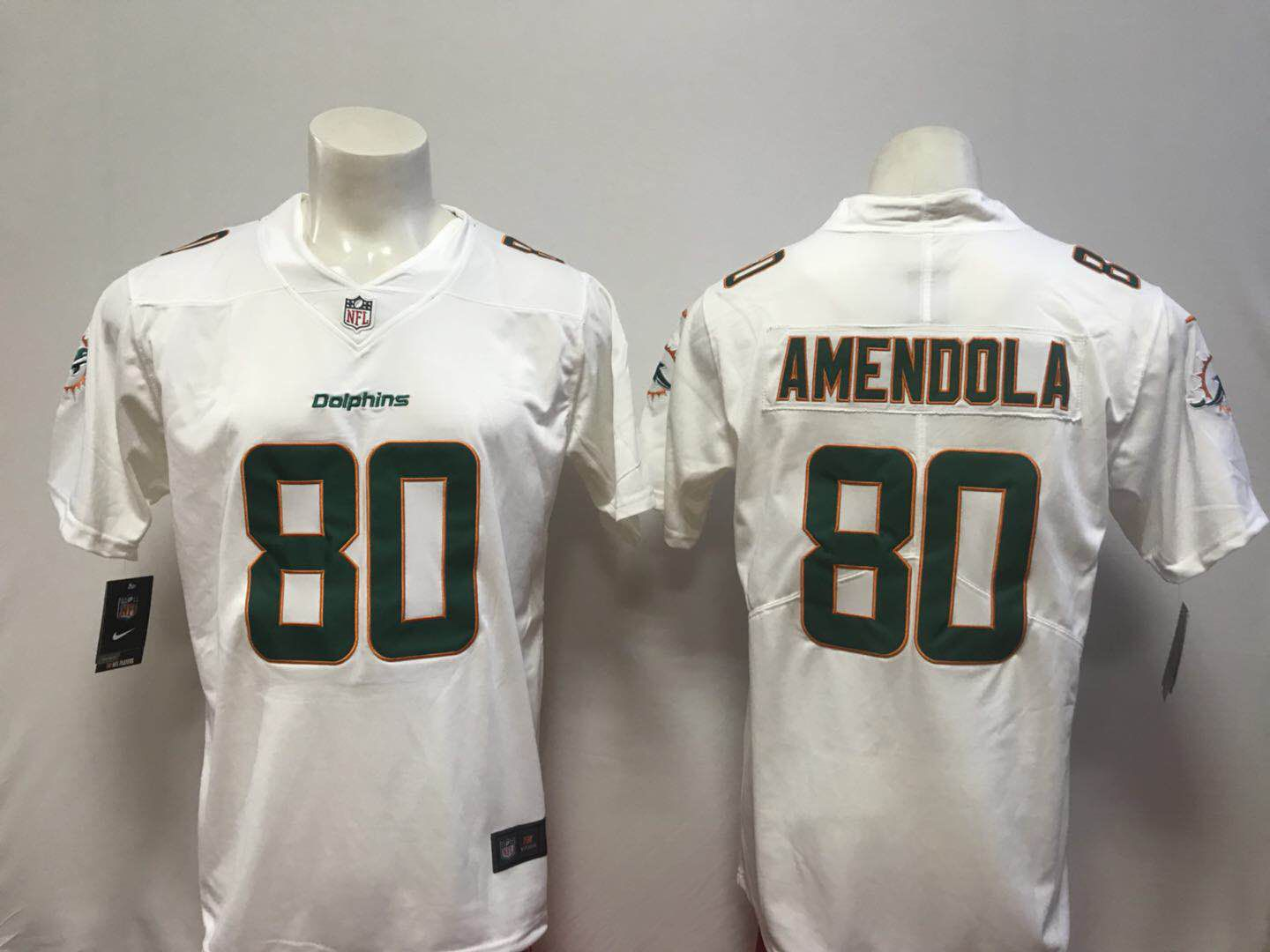 Men Miami Dolphins 80 Amendola White Vapor Untouchable Player Nike Limited NFL Jerseys