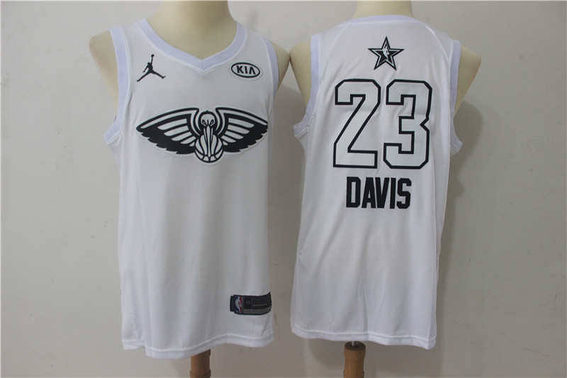 Men New Orleans Pelicans 23 Davis white 2018 All Stars NBA Jerseys