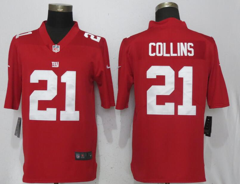 Men New York Giants 21 Collins Red Vapor Untouchable Playe Nike Limited NFL Jerseys