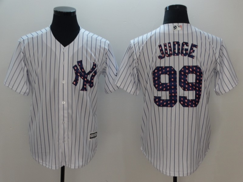 Men New York Yankees 99 Judge White Independent version Game MLB Jerseys