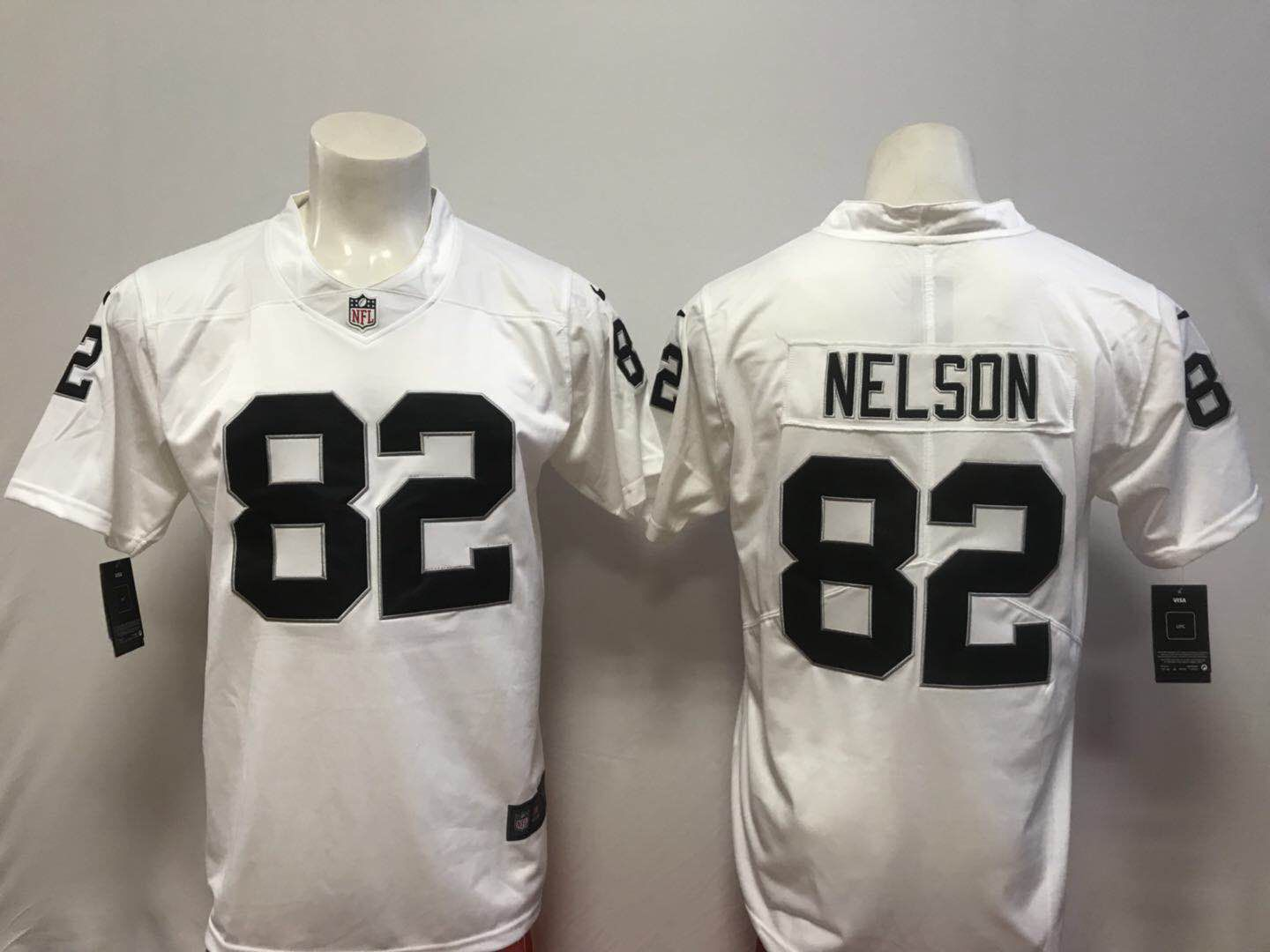 Men Oakland Raiders 82 Nelson White Vapor Untouchable Player Nike Limited NFL Jerseys