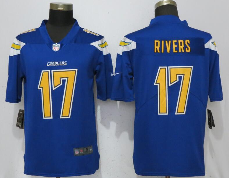 Men San Diego Chargers 17 Rivers Blue Color Rush Nike Limited NFL Jerseys