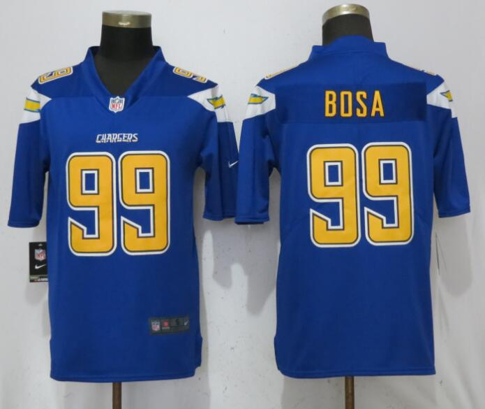 Men San Diego Chargers 99 Bosa Blue Color Rush Nike Limited NFL Jerseys