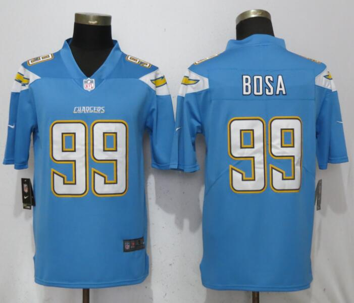 Men San Diego Chargers 99 Bosa Light Blue Vapor Untouchable Playe Nike Limited NFL Jerseys