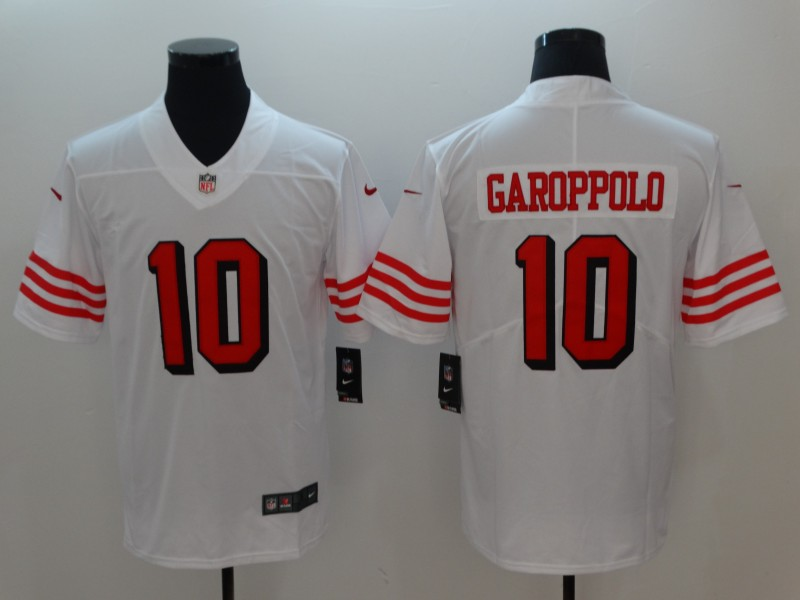 Men San Francisco 49ers 10 Garoppolo White Nike Vapor Untouchable Limited Playe NFL Jerseys