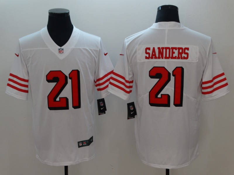 Men San Francisco 49ers 21 Sanders White Color Rush Nike Vapor Untouchable Limited Playe NFL Jerseys