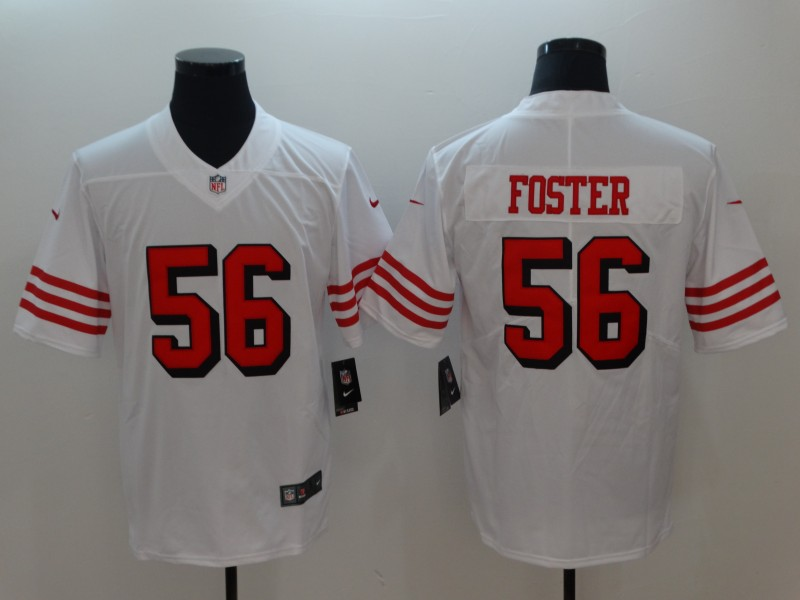 Men San Francisco 49ers 56 Foster White Color Rush Nike Vapor Untouchable Limited Playe NFL Jerseys
