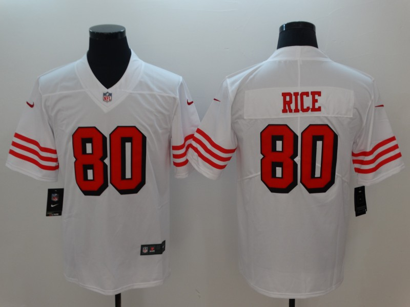Men San Francisco 49ers 80 Rice White Nike Vapor Untouchable Limited Playe NFL Jerseys