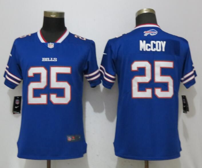 Women Buffalo Bills 25 McCoy Blue Vapor Untouchable Player Nike Limited NFL Jerseys