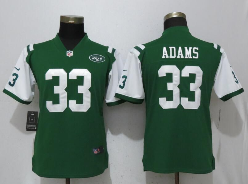 Women New York Jets 33 Adams Green Vapor Untouchable Player Nike Limited  NFL Jerseys 0d804c067