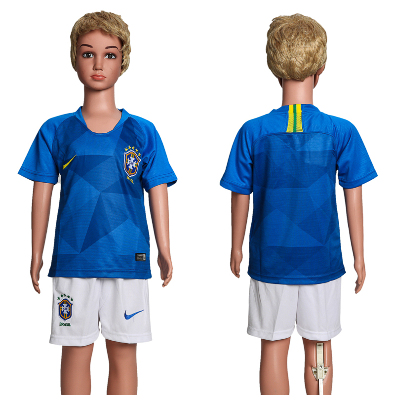 Youth 2018 World Cup Brazil away soccer jersey