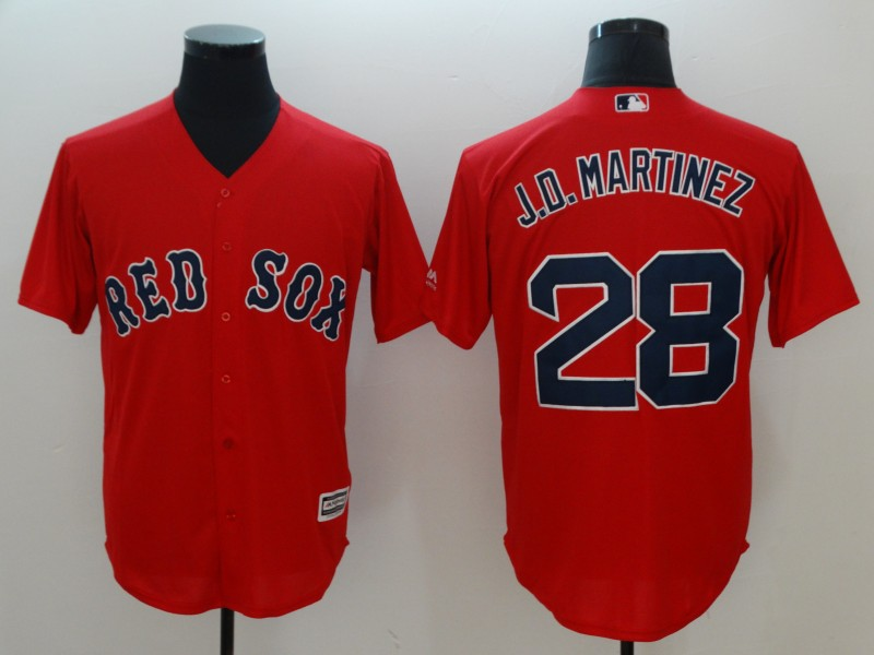 2018 Men Boston Red Sox 28 J.D.Martinez red game jerseys