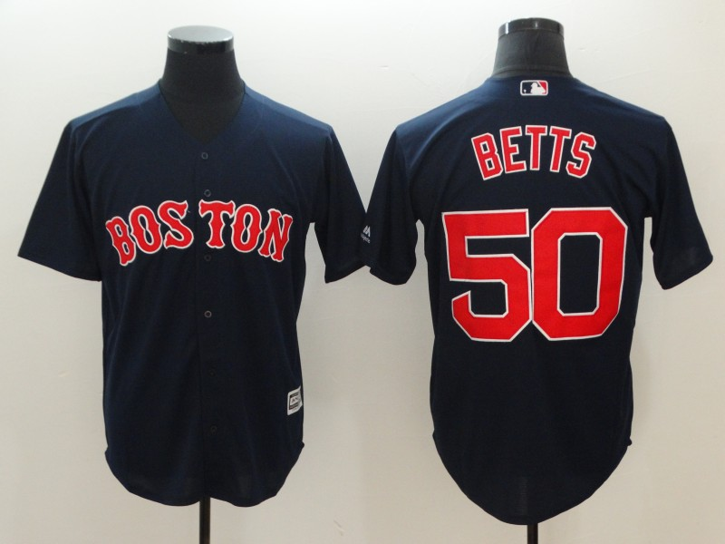 2018 Men Boston Red Sox 50 Mookie Betts Blue game jerseys