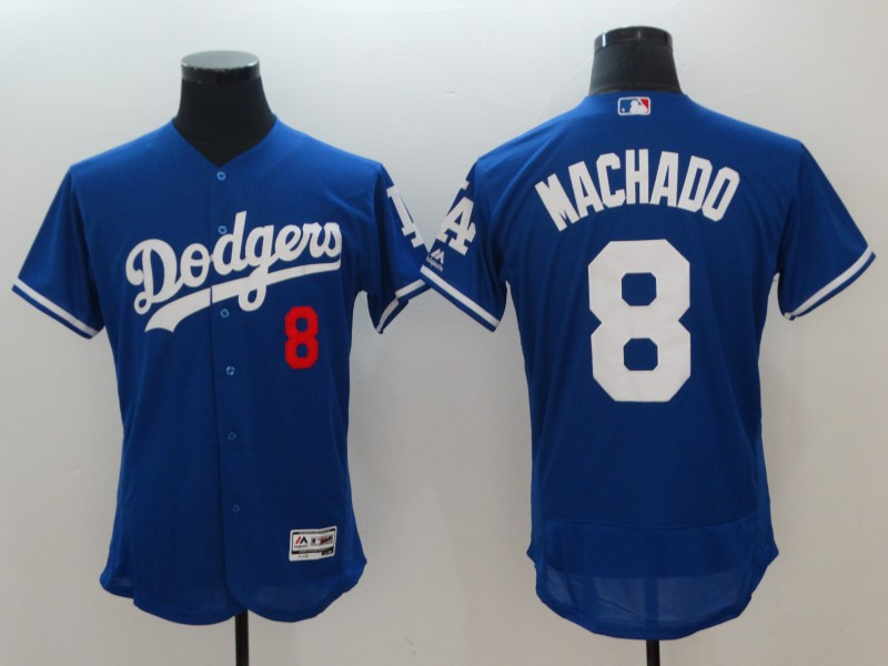 2018 Men Los Angeles Dodgers 8 Machado blue jerseys