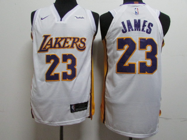 2018 Men Los Angeles Lakers 23 James white Game Nike NBA Jerseys