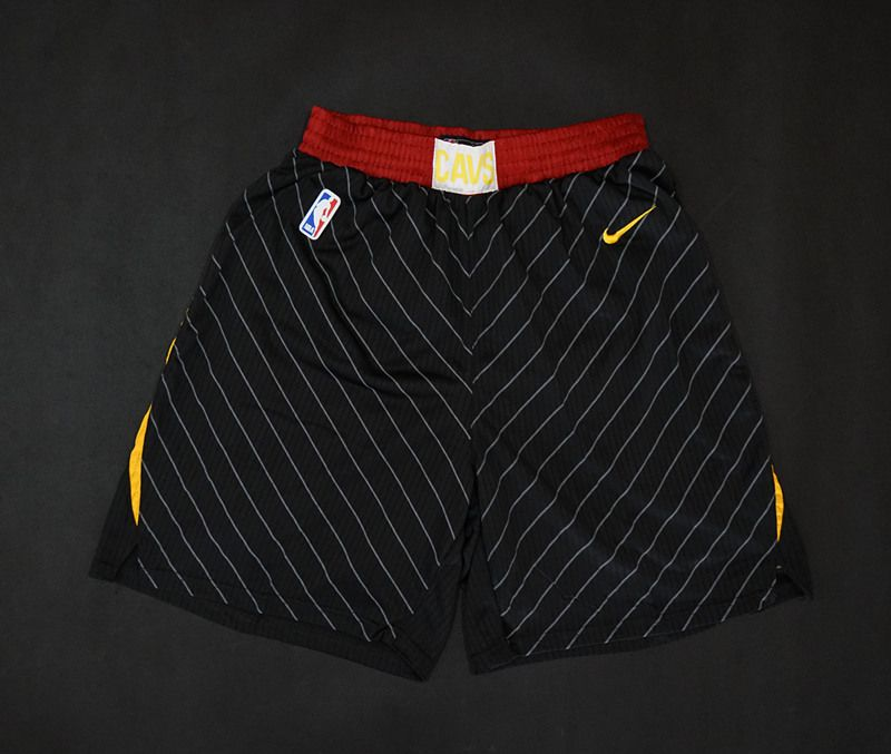 2018 Men NBA Nike Cleveland Cavaliers black shorts