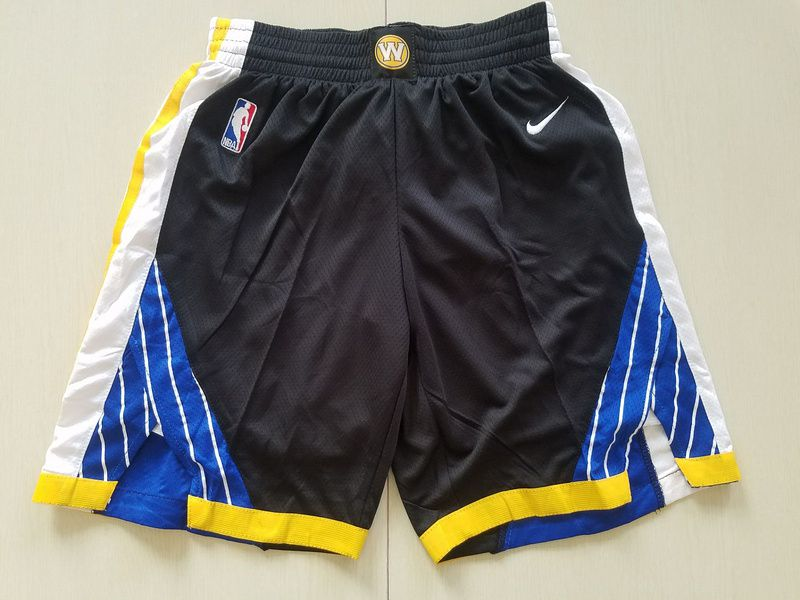 2018 Men NBA Nike Golden State Warriors black shorts