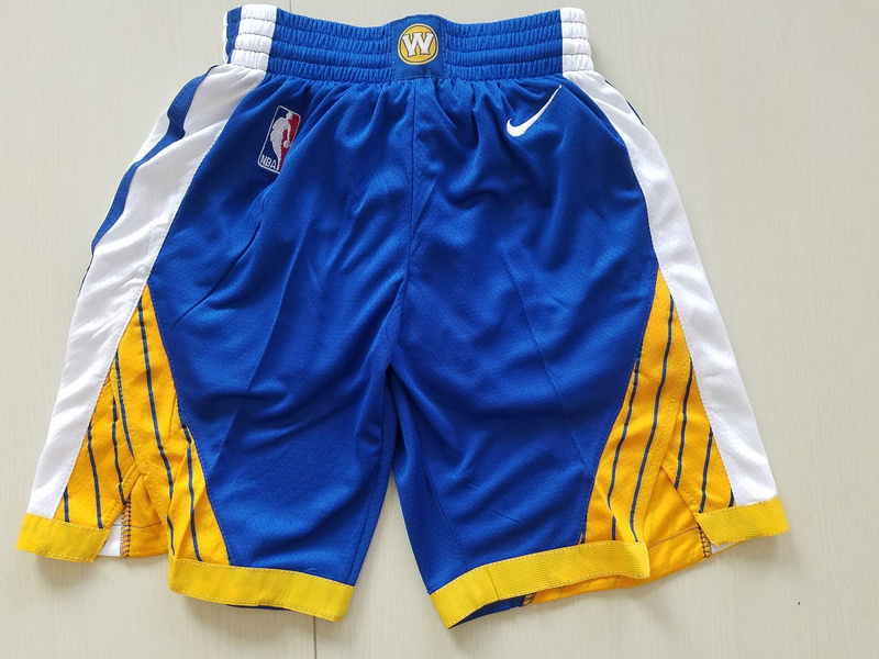 2018 Men NBA Nike Golden State Warriors blue shorts
