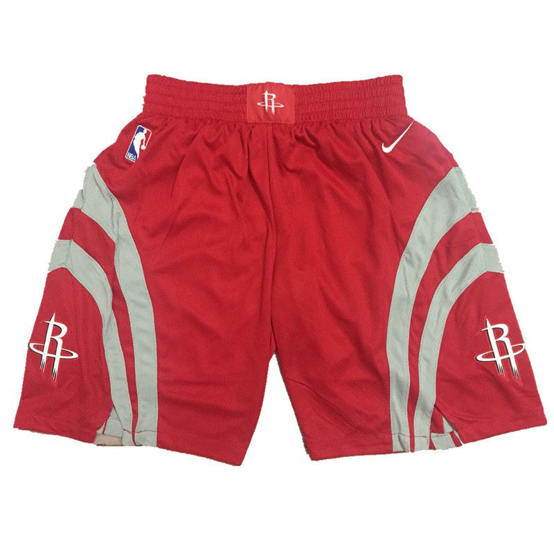 2018 Men NBA Nike Houston Rockets Red shorts