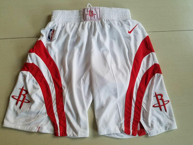 2018 Men NBA Nike Houston Rockets White shorts