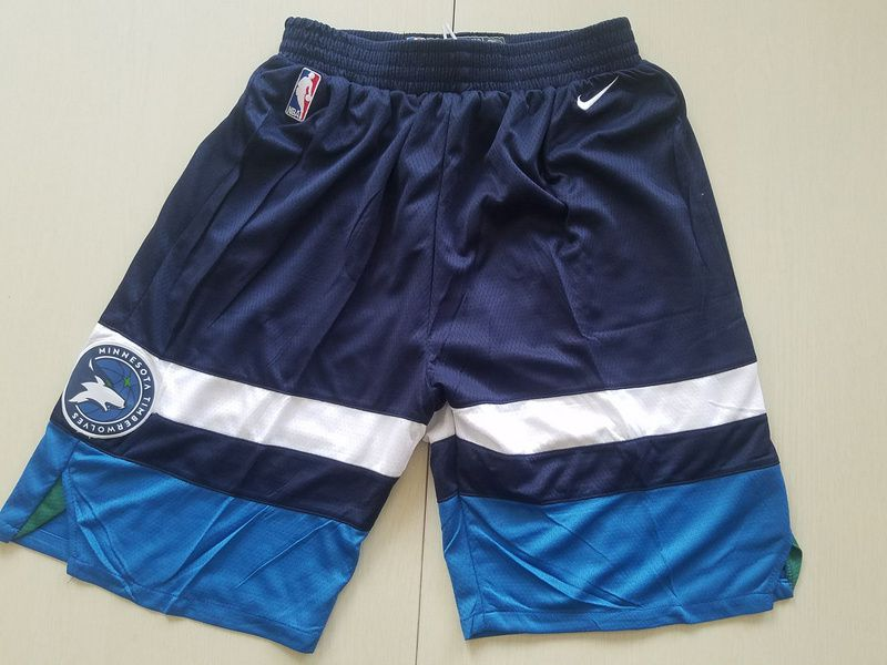 2018 Men NBA Nike Minnesota Timberwolves blue shorts