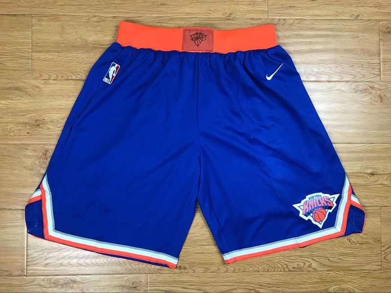 2018 Men NBA Nike New York Knicks blue shorts