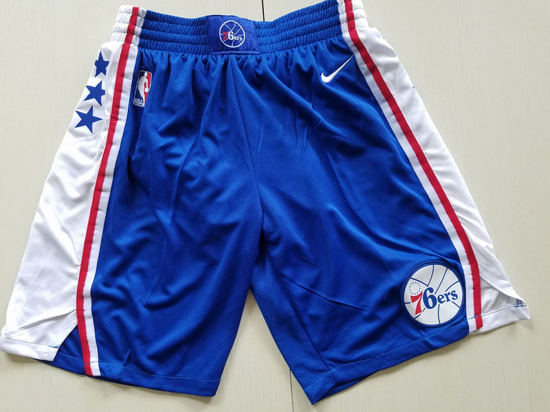 2018 Men NBA Nike Philadelphia 76ers blue shorts