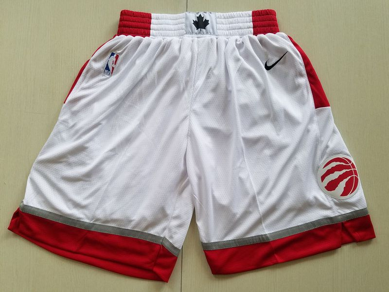 2018 Men NBA Nike Toronto Raptors White shorts