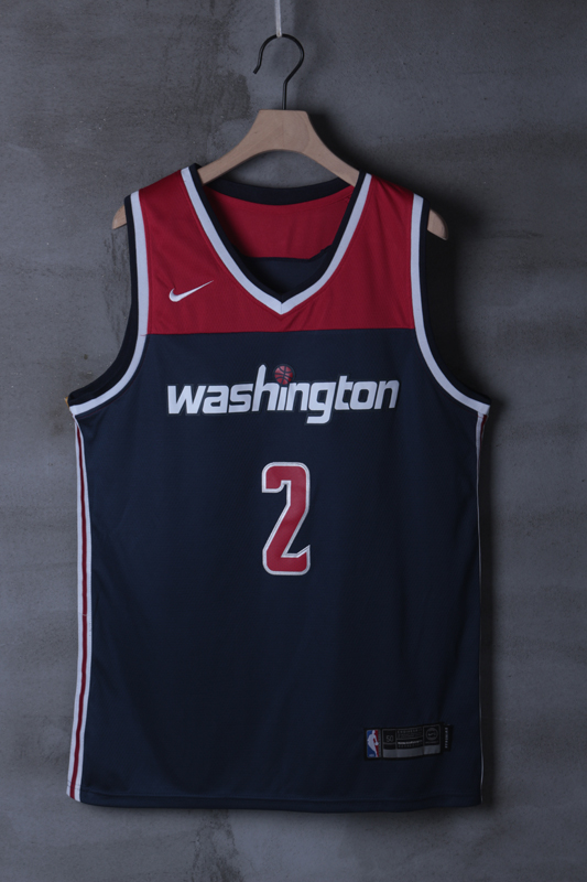 2018 Men NBA Washington Wizards 2 John Wall blue game Jerseys