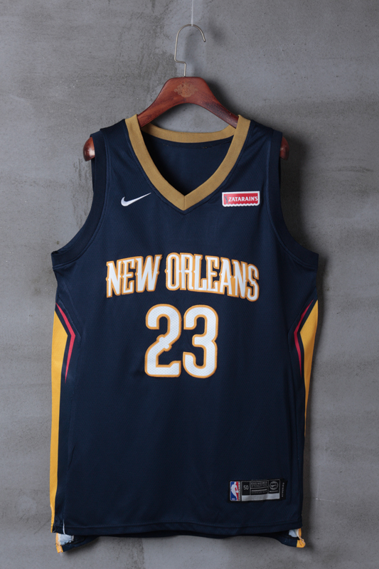 2018 Men NBA New Orleans Pelicans 23 Davis blue game jerseys