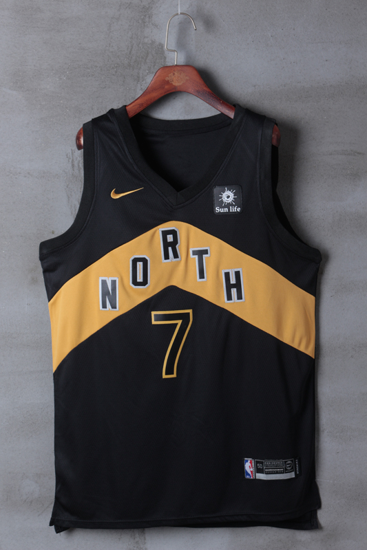 2018 Men Toronto Raptors 7 Lowry Black City Edition Nike NBA Jerseys