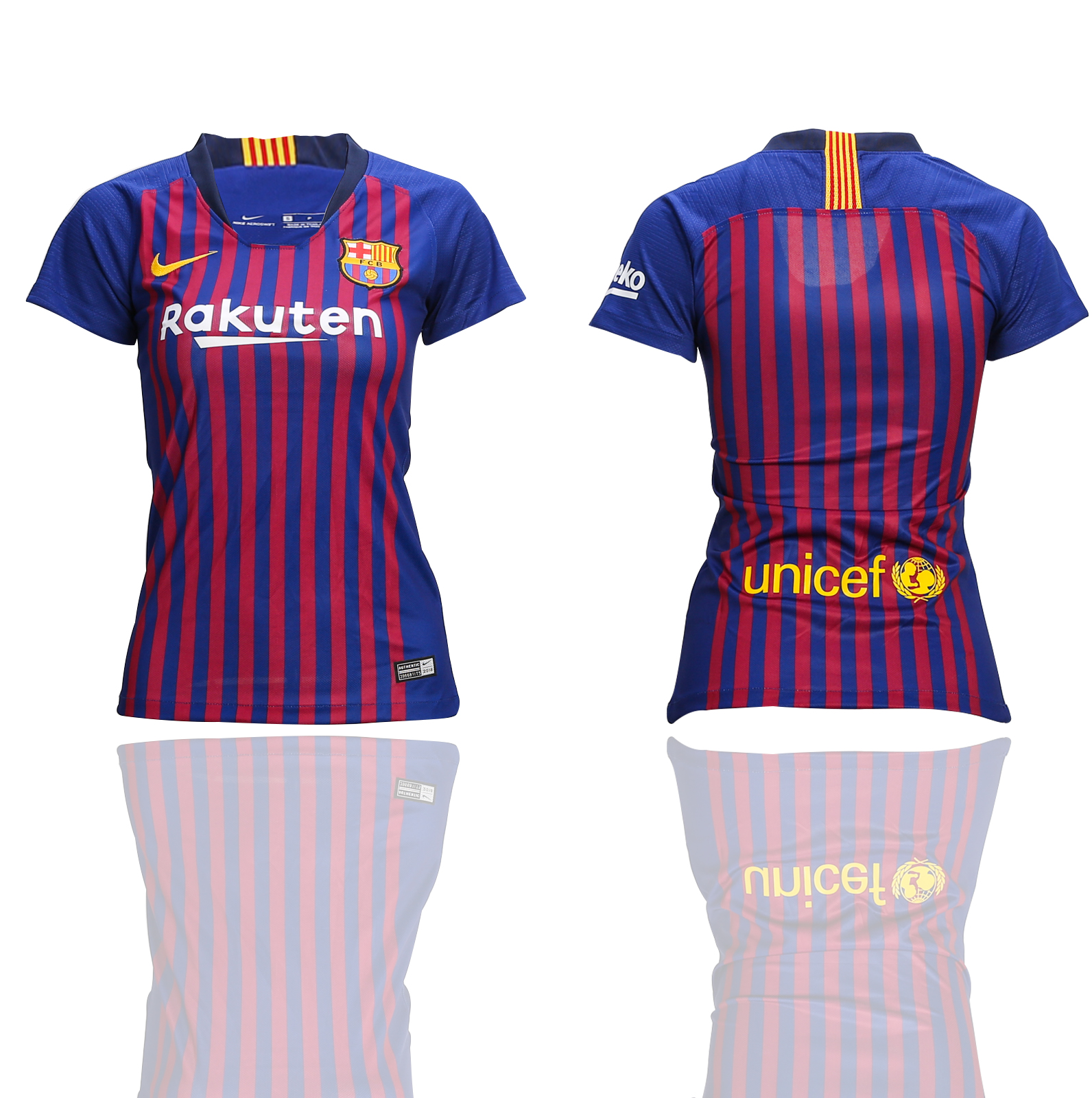 2018-2019 Women club Barcelona home soccer jerseys