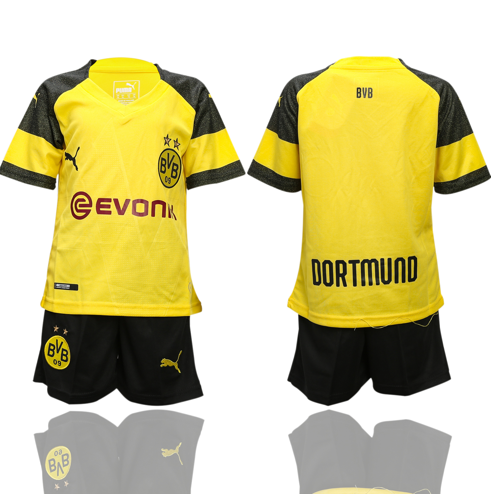 2018-2019 youth club Dortmund home soccer jerseys