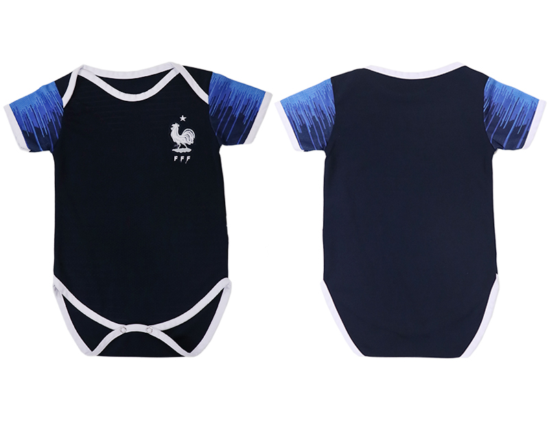 Baby 2018 World Cup France home clothes blue soccer jerseys