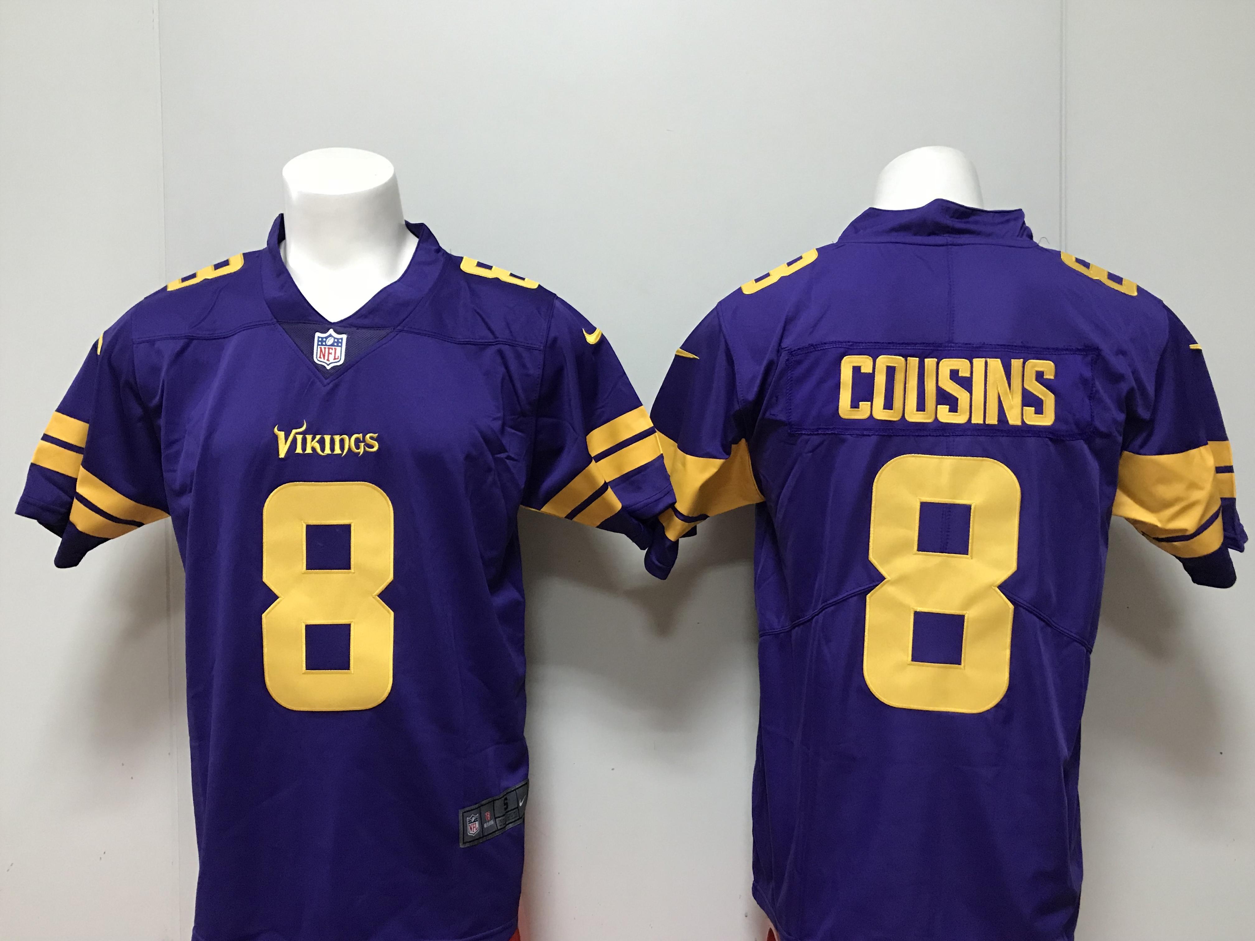 469bb088563 Men 2018 Minnesota Vikings 8 Cousins purple Nike Vapor Untouchable Limited  NFL Jerseys