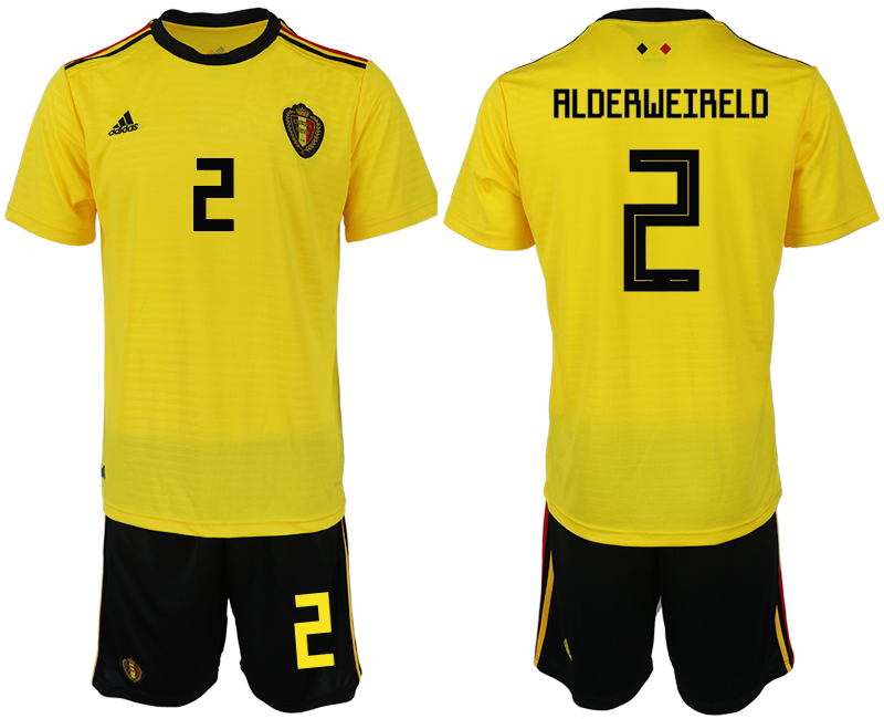 Men 2018 World Cup Belgium away 2 yellow soccer jerseys