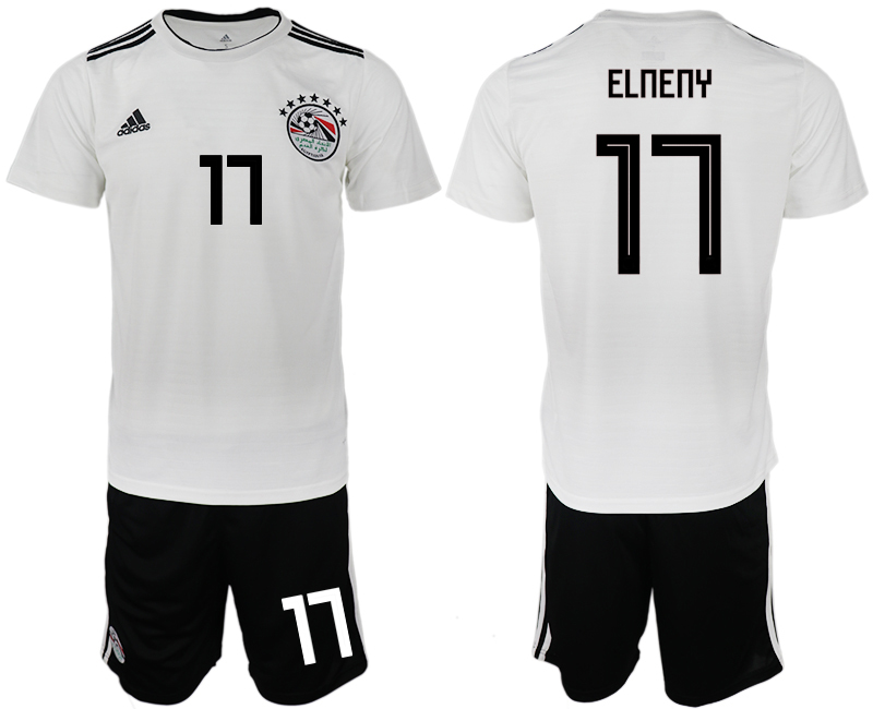 Men 2018 World Cup Egypt away 17 white soccer jerseys