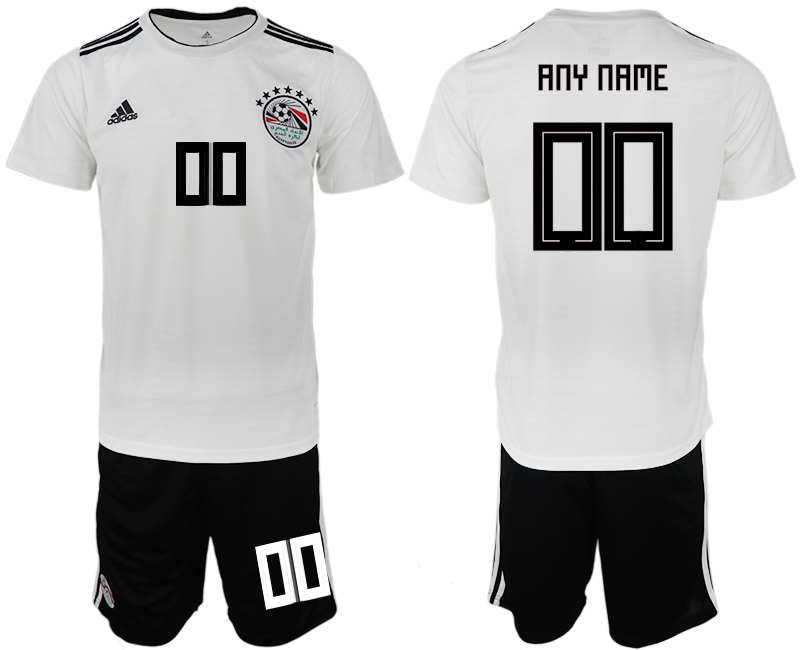 Men 2018 World Cup Egypt away customized white soccer jerseys