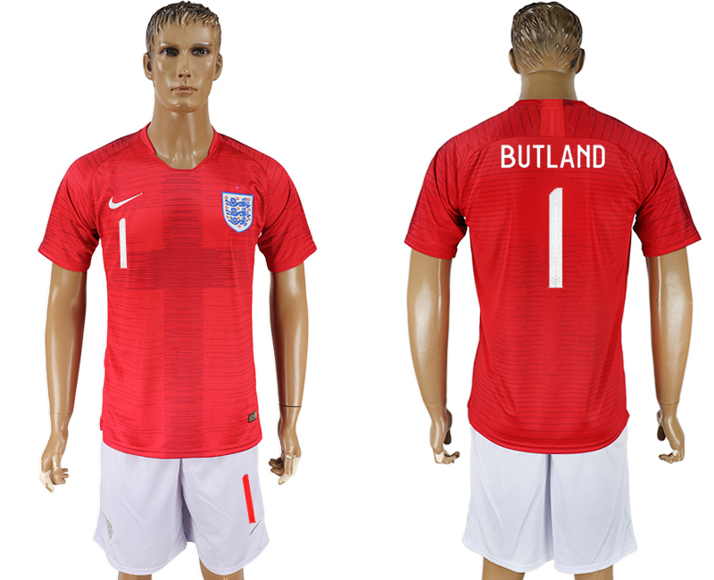 Men 2018 World Cup England away 1 red soccer jerseys
