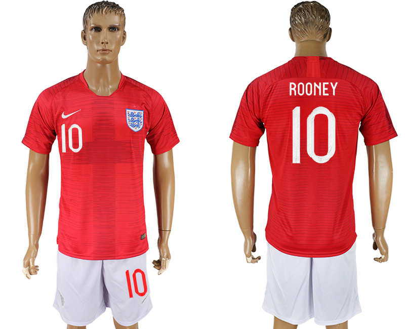 Men 2018 World Cup England away 10 red soccer jerseys