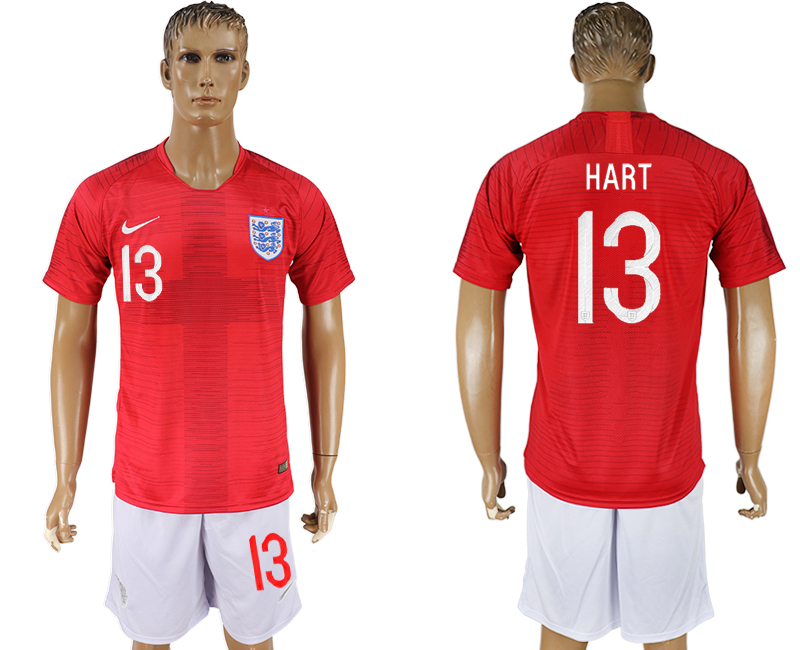 Men 2018 World Cup England away 13 red soccer jerseys