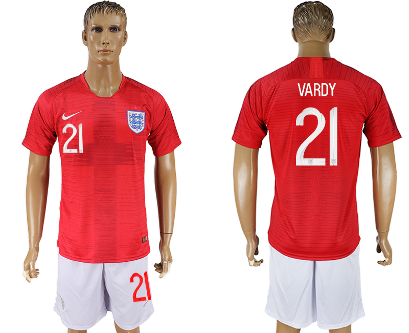 Men 2018 World Cup England away 21 red soccer jerseys