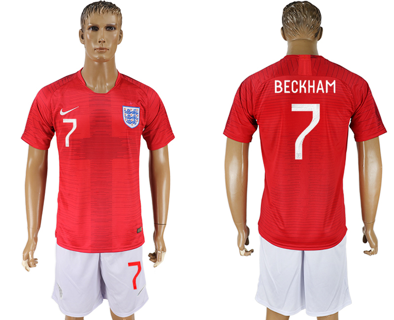 Men 2018 World Cup England away 7 red soccer jerseys