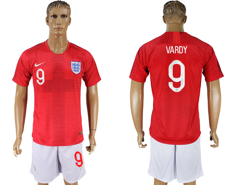 Men 2018 World Cup England away 9 red soccer jerseys1