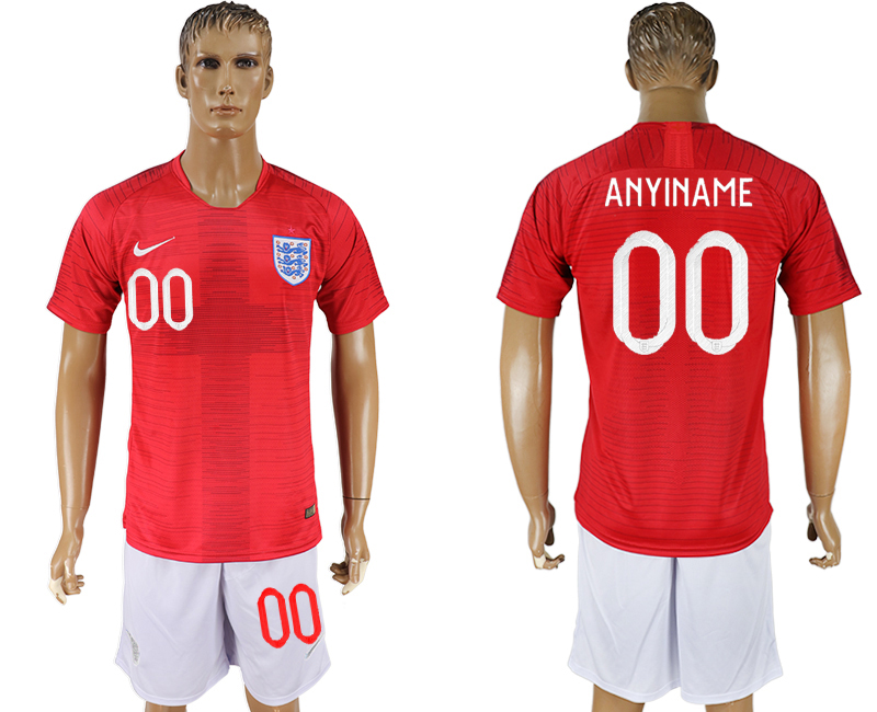 Men 2018 World Cup England away customized red soccer jerseys
