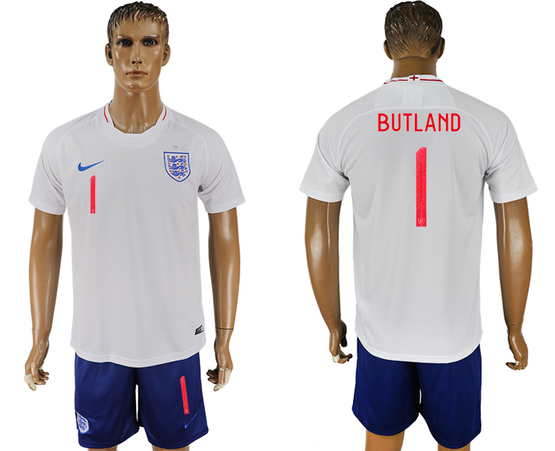 Men 2018 World Cup England home 1 white soccer jerseys