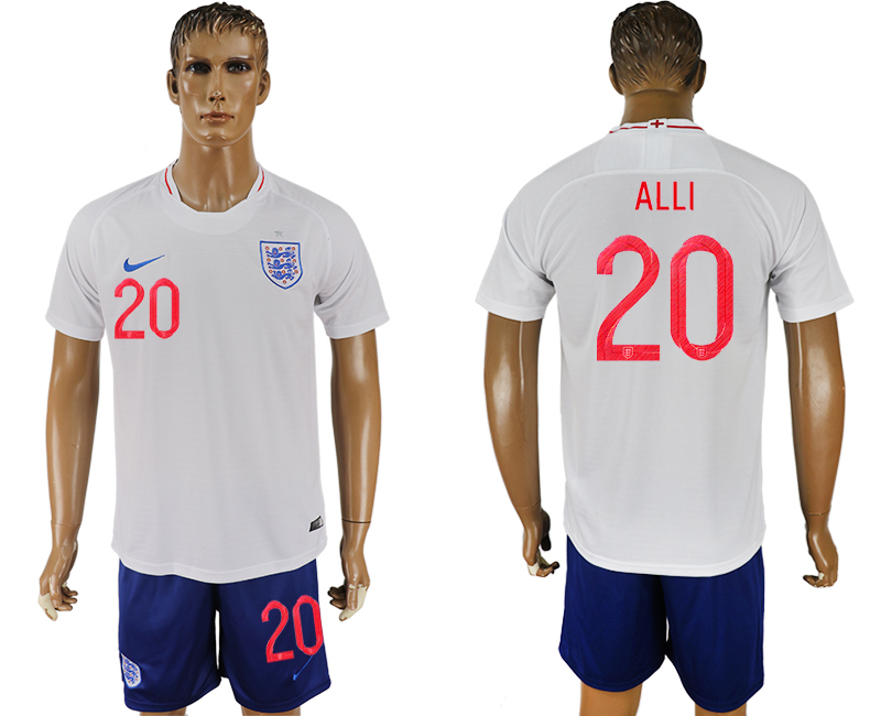 Men 2018 World Cup England home 20 white soccer jerseys