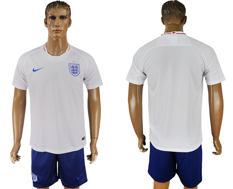 Men 2018 World Cup England home blank white soccer jerseys1